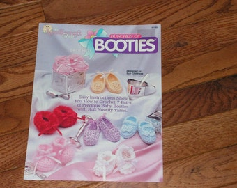 Vintage Crochet 'Bunches of Booties' for baby featuring 7 pairs of Preciousness by the Needlecraft shop