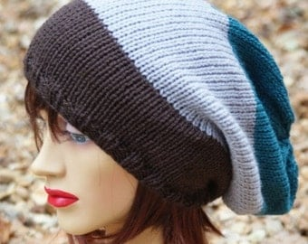 ON Sale knitted oversized, Slouchy Beanie,  Dreads