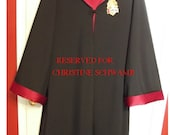Gryffindor Robe, Harry Potter inspired, size 10/12, with wand for Dress Up, Halloween, Birthdays