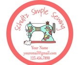 Personalized Stickers, Business Stickers, Custom logo, Bag Tags, Shower, Favors, Holiday, Christmas, Address, Thank You, Set of 100