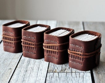 Leather Journal Box Set, Little Fendrich Buds, Matching Leatherbound Books