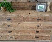 "YOUR Custom Rustic Barn Wood Long 60"" Dresser Free Shipping"