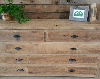"YOUR Custom Rustic Barn Wood Long 60"" Dresser Free Shipping- CBWLD900F"
