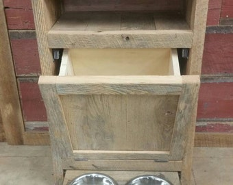 YOUR Custom Pet Feeder Cabinet FREE SHIPPING -CPFC550F