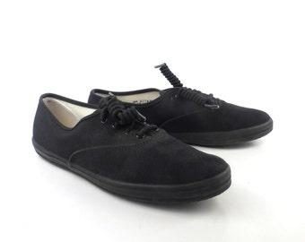 Black Keds Sneakers Vintage 1980s Shoes Canvas Women's size 7