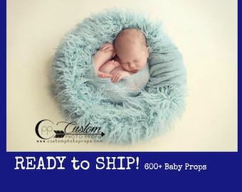 RTS Hypoallergenic & Washable Faux Flokati Frozen Long Sheep, BaSkeT StuFFeR, Fur Newborn Photo Props, Long Fur, Baby Boy, Baby Girl, Spring