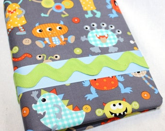BABY Journal, Baby Memory Book, Monsters, Baby boy, Boy Book, Monsters Baby Room Decor, Blue, Orange, Green and Gray, Baby Book, Baby Shower
