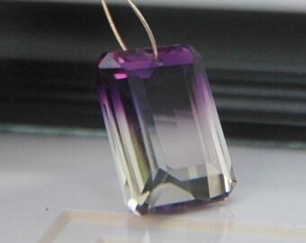 Bi-color Ametrine Emerald Cut