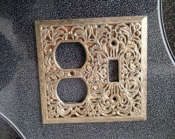 Vintage Single Toggle Light Switch Plate And Outlet Plate Ornate