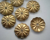 12 brass mirror rosettes, No. 15