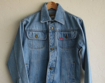 35% OFF SUMMER SALE Vintage Wrangler Light Wash Denim Jacket