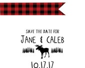 Moose Save the Date stamp