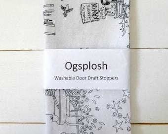 Draft Stopper - Kids Room Decor - Black and White Door Snake - Modern Home Decor - Civil Rights Fabric. 10