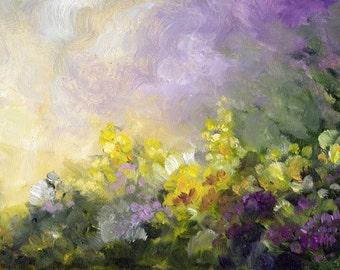 Painting Landscape Flowers, Original Flower Painting, Floral Art, Flower Art, Home Decor, Wall Decor