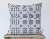 Welsh Blanket Chunky Pattern Linen Cushion