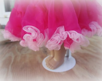 Doll's Skirt,  Doll's Pettiskirt, Fuchsia,  for all 18 inch dolls!