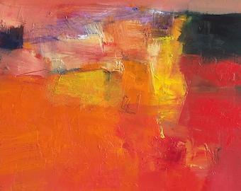 Small Box Painting 1147 - Original Oil Painting - 22.7 cm x 22.7 cm (app. 8.9 inch x 8.9 inch)