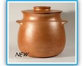5.25 qt. Bean Pot - Chili Pot - Stew Pot - Soup Pot - Sauce Pot - Gravy Pot - Rice Pot - Micaceous Clay Pottery