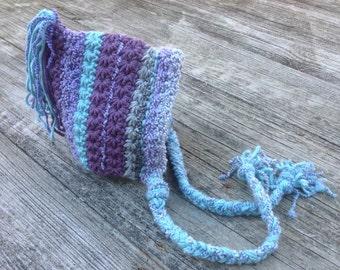 Newborn Pixie Hat, Baby hat, crochet hat,Pixie hat, Newborn gift