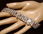 Vintage rhinestone Bracelet wedding