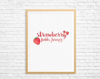 Strawberry Fields Forever by The Beatles - Digital Print - 8.5x11