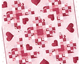 Candied Hearts quilt Pattern  from Ribbon Candy Quilt Company