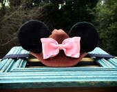 Made 2 Match Cowgirl or Cowboy Minnie Ears Girls Stretch Headband Christmas Holiday Polka Dot Bow Mouse Ears Band Photography Prop