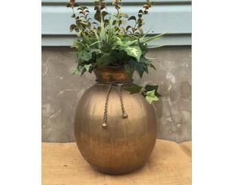 Vase - Floor Vase - Brass Vase - Bohemian Decor - Boho Decor - Jungalow Decor - Large Vase - CHIC