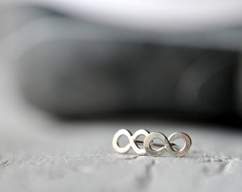 Sterling silver infinity post earrings, love or friendship, anniversary and valentine's gift