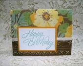 Happy Birthday, single greeting card, Printed verse Inside. #8242
