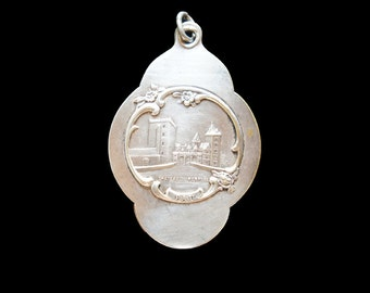 Mirror Locket French 19th Century Art Nouveau Henri iV French Antique