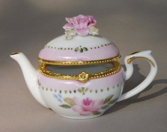 Pink Teapot Ring Box