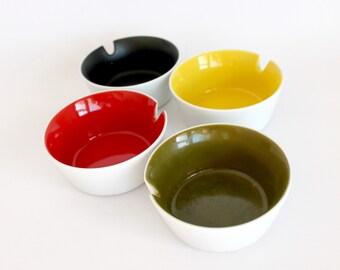 Vintage Otagiri Ashtray Set Ceramic