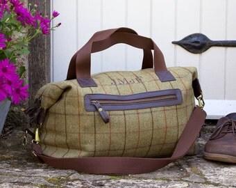 Personalised Tweed Weekend Bag