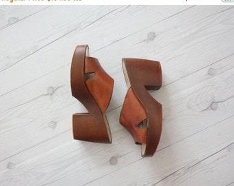 VACATION SALE. platform leather shoes
