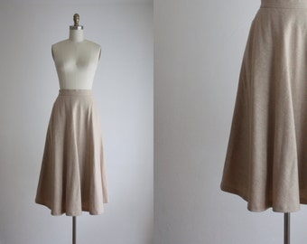 camel wool skirt