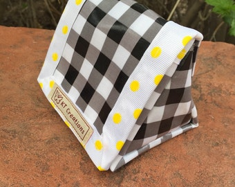 Reusable Sandwich Lunch Snack Bag Camping Picnic Laminated Cotton Plaid