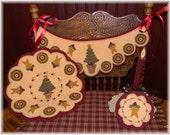 O Christmas Tree! Penny Rug/Candle Mat/Chair Swag Set DIGITAL PATTERN!