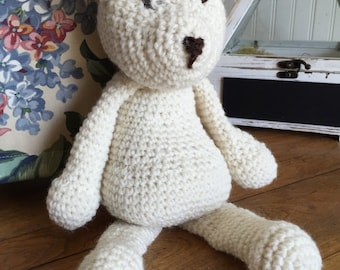 Crocheted Wool Polar Bear
