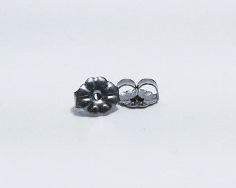Titanium Earring Backs - Titanium Earrings - Titanium Jewelry - Hypoallergenic Earrings - Titanium Earnuts - Titanium Clutch Backs