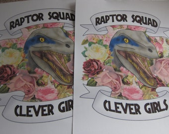 Raptor Squad Jurassic World girl gang back patch
