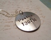 Psalms 139:14  Necklace. Bible Verse Necklace