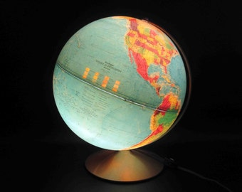 Vintage Replogle Illuminated World Globe