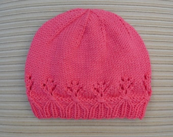 "Instant Download #227 Knitting Pattern Hat ""Vanessa"" for a Lady"