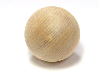 Unfinished Wood Ball - 2 inch in diameter wooden shape (WW-RB2000)