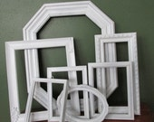 Picture Frames Set of 7 Upcycled Vintages Various Size Open Frame