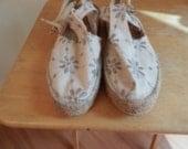 Vintage espadrille shoes,bohemian shoes, sandals
