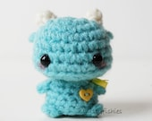 Mini Blue Monster - Kawaii Amigurumi Plush