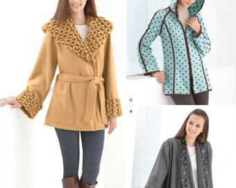 Simplicity 2208 Fleece Jacket Pattern 3 Design Size XS - XL New - Uncut