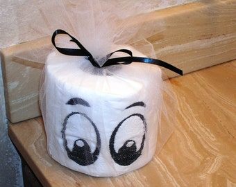Embroider Toliet Paper Eyes